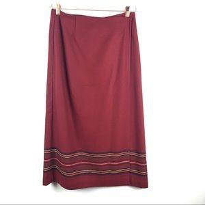 Eddie Bauer | Wool blend wrap skirt | 12 petite